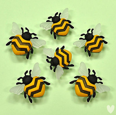 DRESS IT UP Buttons Bee Happy 9382 -  Bumble Honey Bees Insects Garden
