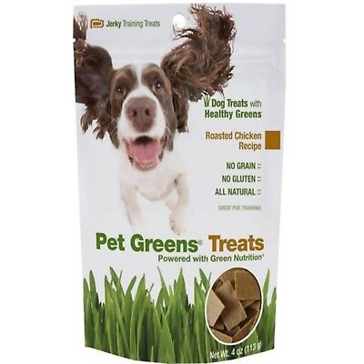 Pet Greens Jerky Dog Treats Roasted Chicken All Natural 4 oz