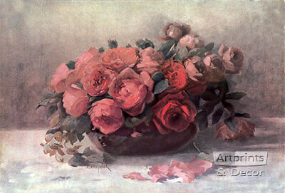 Roses in Bloom by Fenquick (: Art Print of Vintage Art :)