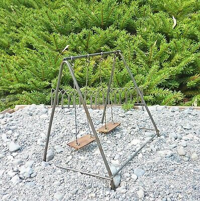 Dollhouse Miniature Fairy Garden Metal Swing Set