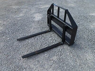 """Skid Steer Compact Tractor Loader - 42"""" Pallet Forks Attachment - Ship $149"""