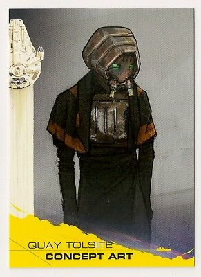 2018 Topps Star Wars Solo Yellow Parallel #91 Quay Tolsite Concept Art