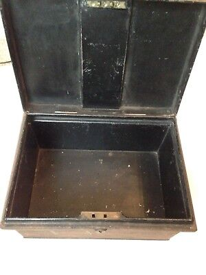 Deeds Box With No Key 2 Lever Lock - 2 Side Handles Vintage Metal