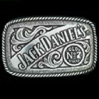Jack Daniels Old No 7 Belt Buckle 4-1/4 x 2-1/2 Silver, Metal With Logo