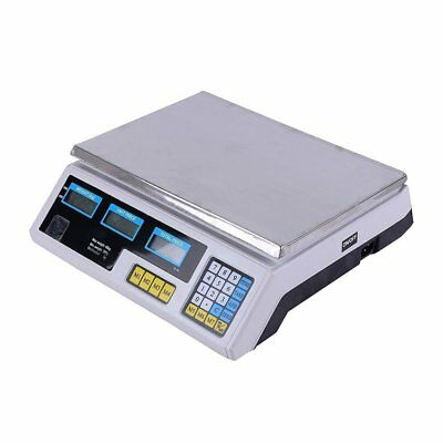 66Lbs Digital Weight Scale Price Computing Retail Food Meat Scales Count Scale