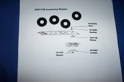 American Flyer Parts - PA8715B Insulating Washers - 4 pcs
