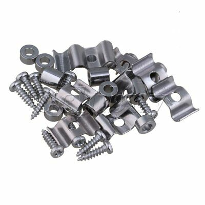 10PCS Zinc Alloy String Tree Guide Retainer Chrome Finish with Screw