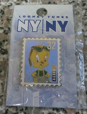 #A6 Warner Brothers Bros WB LOONEY TUNES NY NYC TWEETY BIRD STAMP COLLECTORS PIN