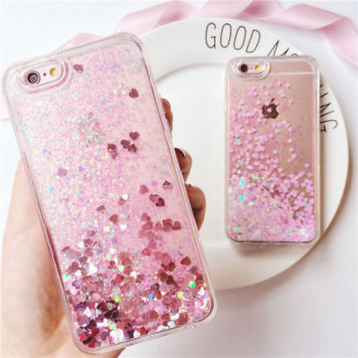 Dynamic Liquid Glitter Quicksand Clear Back Case Cover For iPhone X 6s 7 8 Plus