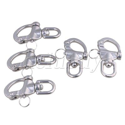5Pieces 87x42mm 304 Stainless Steel Durable Swivel Snap Shackle Medium Size
