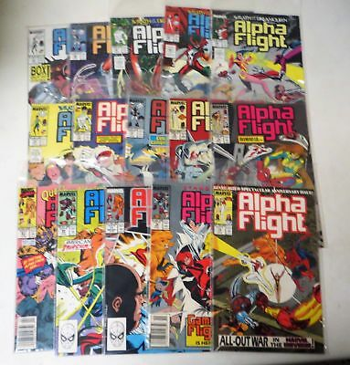 Vintage 1983 ALPHA FLIGHT 65-81  MARVEL SUPER HERO COMIC BOOK LOT (15)