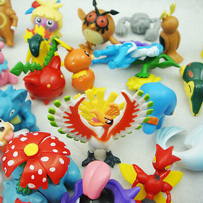 Pokemon Monster Mini Figure Action Figures in Cute Toys Gifts Random 24Pcs