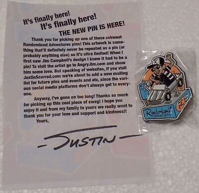 Randomland Adventures Justin Scarred Blue Mustang Pin