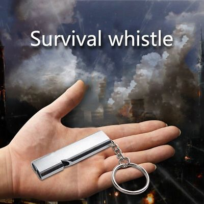 5X(High quality Outdoor Camping Hiking Double Frequency Whistling Self-def A8N9)