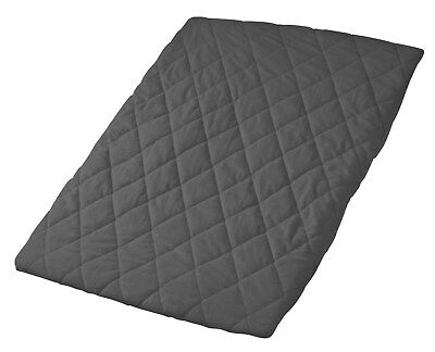 Playette - Quilted Travel Cot Fitted And Padded Sheet - Charcoal