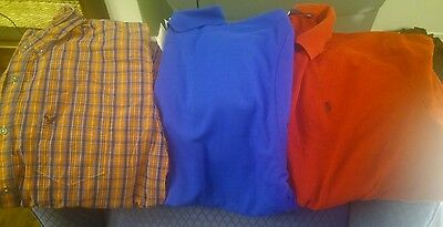 Back to school Lot of 3 shirts polo, American Eagle,NWT Anvil, men size XL