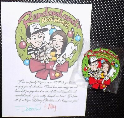 Randomland Adventures Justin Scarred Ally Christmas Wreath with Cats Pin