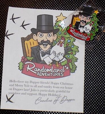 Randomland Adventures Justin Scarred Mr Dapper & Julio Pin Christmas Yule