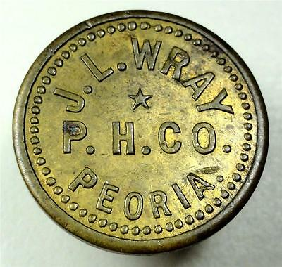 Unlisted Peoria IL Trade Token JL Wray P.H. Co. GF 5c IT 20mm me07
