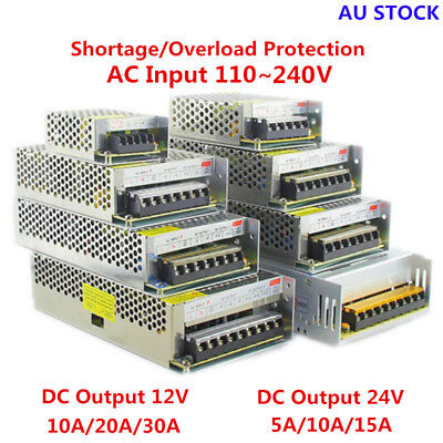 AC 220-240V TO DC 12V/24V 5A/10A/15A/20A/30A Transformer Regulated Power Supply