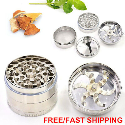 New Smoke Grinder Herb Aluminum Hand Crank Herbal Tobacco Grinders 4-layer AU