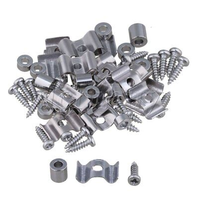 20PCS Zinc Alloy String Tree Guide Retainer Chrome Finish with Screws