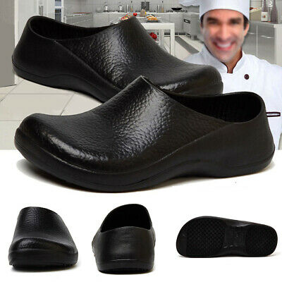 Pair Men's Chef Kitchen Nonslip Soft Safety shoes Oil & Water Proof for Cook 6-8