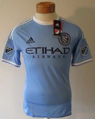 a86e9a3dd0c NWT Adidas New York City FC MLS Mens Home Authentic Jersey L Light Blue  MSRP 120