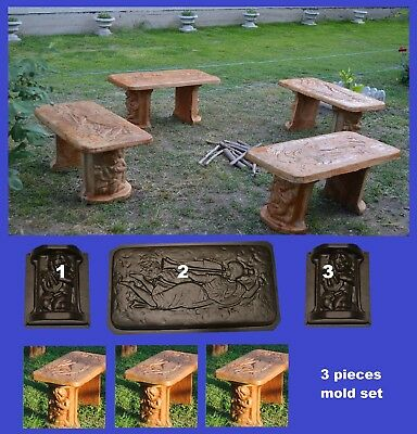Phenomenal Angel Stone Concrete Bench Mold Garden Patio Furniture Paver Lamtechconsult Wood Chair Design Ideas Lamtechconsultcom