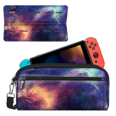 For Nintendo Switch Carry Case Sleeve Pouch with Side Pocket Game Storage Travel