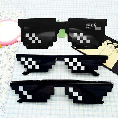 Women Men 8 Bit Pixel Thug Life Glasses Sunglasses Eyewear Eye Glasses Cool Hot