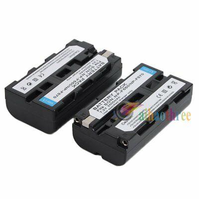 2Pcs NP-F550 2500mAh Li-ion Battery Replacement For Sony NP-F550 NP-F570 NP-F970
