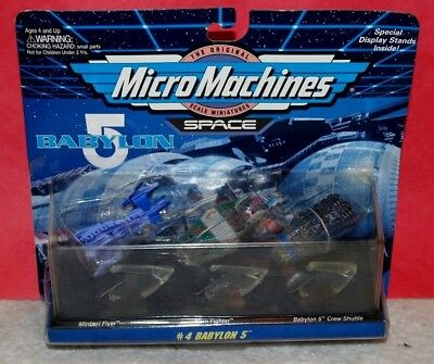 Galoob 1994 Micro Machines Space Babylon 5 set #4 3 Ships Factory Sealed on card