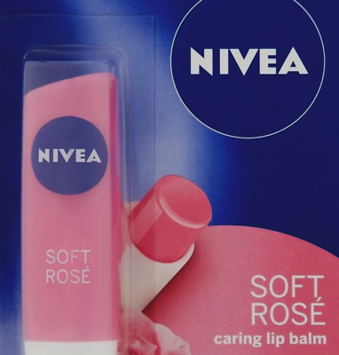 Soft Rose Nivea Lip Balm Intensive Moisture & Soft Rosy Shine with Rose Extract