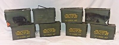 US Military Surplus LOT OF 8 Ammo Cans 7.62 30 cal M19A1 10x3.5x7 Airtight Steel