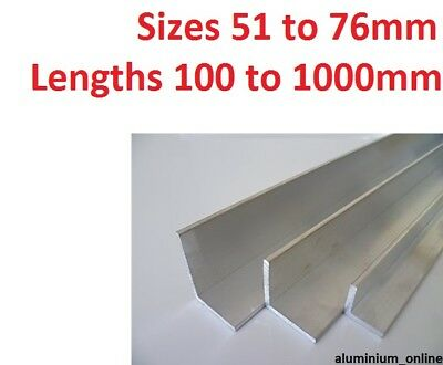 ALUMINIUM ANGLE UNEQUAL 51mm 57mm 63mm 76mm  L profile select size in listing