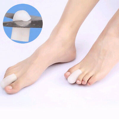 10Pcs Silicone Gel Toe Tube Caps Foot Corns Remover Blisters Toe Protector Soft