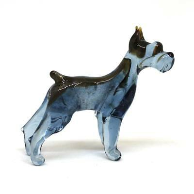 Middle blown glass figurine Dog - Schnauzer. Russian Murano Handmade #105