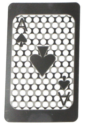 Credit Card Style Grinder Card - Ace of Spades (Full Card)