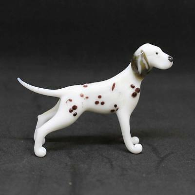 Middle blown glass figurine Dog - Dalmatian Russian Murano Handmade #135