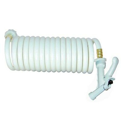 T-H Marine 15' Coiled Wash Down Hose - White