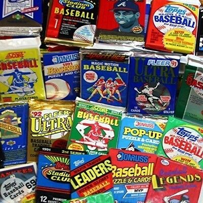 Unopened Vintage MLB Baseball Cards Collection In Factory Sealed Packs 80's 90's