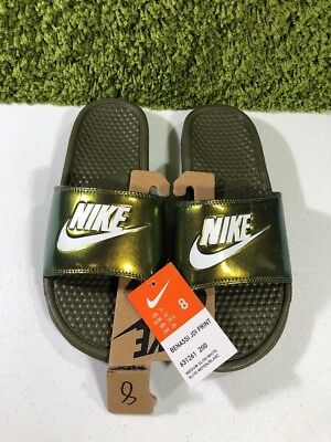 63c79e4261 NIKE BENASSI JDI PRINT Slides In Mens Size US 8 / EU 41 Medium Olive ...