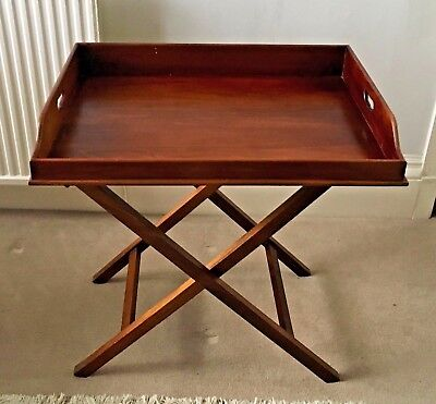 Large Antique Mahogany Georgian Mahogany Butlers Tray Butler Side Console Table
