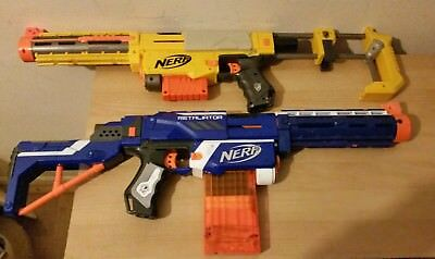 nerf retaliator plus recon cs-6 toy blaster guns bundle outdoor