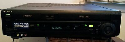 Sony SLV-T2000 VHS Video8 Hi8 Dual VCR With Remote - Working and Very Rare