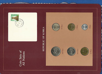 Coin Sets of All Nations Korea all 1983 but 50 Won 1982 500 Won 1984 UNC
