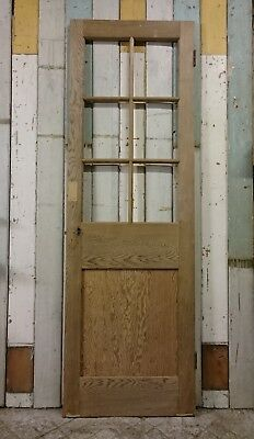 A SMALL EDWARDIAN 6 PANEL STRIPPED PINE INTERNAL DOOR W630mm H1935mm ref 1104
