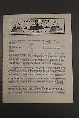 US Army Armor Center Daily Bulletin Official Notices, No 243, December 13, 1968