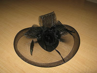 Veil Fascinator Hair Clip Mini Pillbox Hat Wedding Headwear Bridal Headpiece